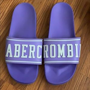 Purple Abercrombie slides